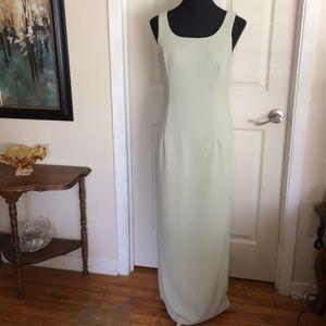 Joseph Ribkoff Long Pale Green Sleevess Maxi Dress